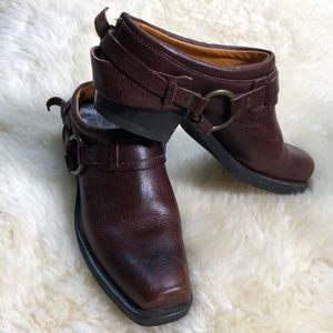 Frye mules cloggs ankle boot made in USA